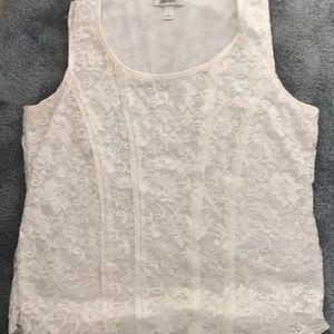 Sleeveless dress top | large |
